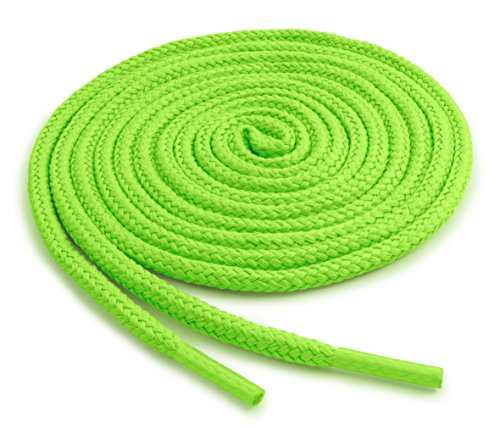 OrthoStep Round Athletic Neon Green 40 inch Shoelaces 2 Pair Pack - Green Round Shoes