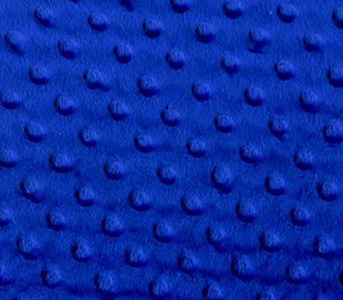 Minky Fabric Dimple Dot Royal Blue / 60