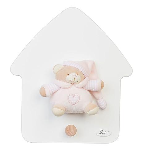 Casa Perchero oso Paco rosa: Amazon.es: Bebé