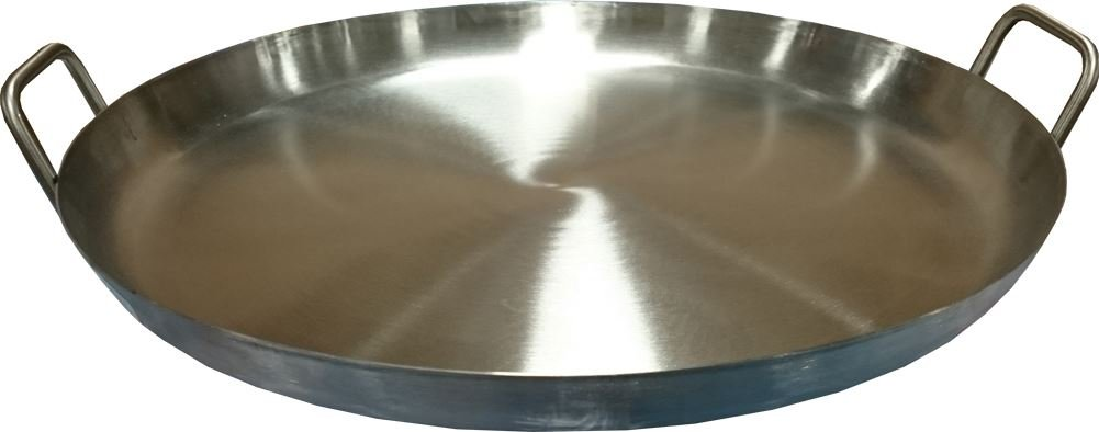 Bioexcel Comal Stir Fry Griddle - Stainless Steel Pan Flat Round 16'', 20'' - This one is 20'' x 1.5'' - Heavy Duty BBQ Griddle for Portable Gas Stove