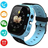 YENISEY Kids Smartwatch Phone for Girls Boys - Children Touch Phone Wrist Watch with SOS Call Voice Intercom Camera Flashlight Voice Maths Game for Students Age 4-12