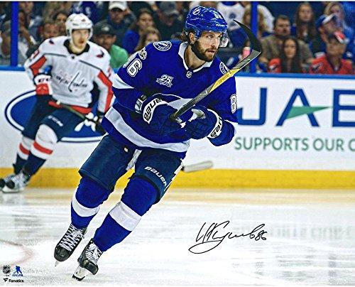 Blue Jersey Skating (Nikita Kucherov Tampa Bay Lightning Autographed 16