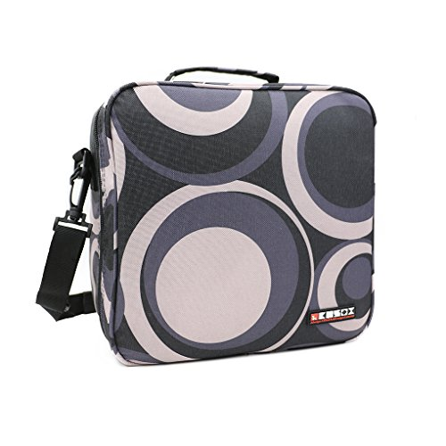 KOSOX Oxford Square Insulated Lunch Tote Bag Picnic Cooler Bag with Shoulder Strap - Unisex Lunch Bag for Adults, Kids, Women, Men, Teens (Circle)