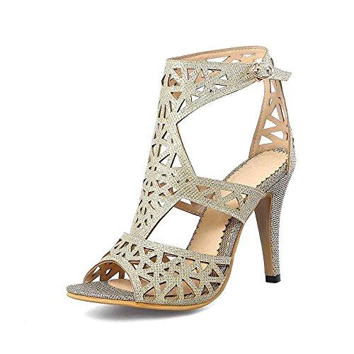 bombas liuruijia nbsp;cm 12 de vestido de trabajo Punta tacones zapatos talón Dorado altos zapatos 4lx boda Mujer mujer 323 fiesta cBrqBwY8