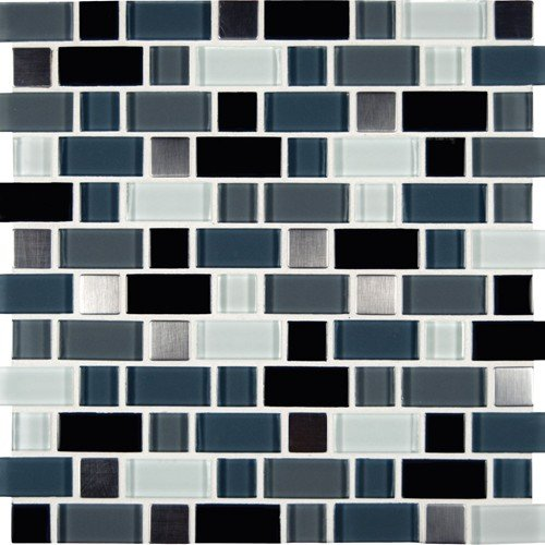 MS International Crystal Cove 12 in. x 12 in. Glass Blend Mesh-Mounted Mosaic Tile - SAMPLE LISTING - ONLY ONE ALLOWED PER - Tile House Marble