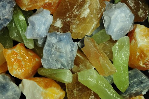 Fantasia Materials: 1 lb AAA Grade Assorted Calcite Rough -(Select Assorted or Specific Color)- Premium Raw Natural Crystals for Cabbing, Cutting, Tumbling, Polishing, Wire Wrapping, Wicca & Reiki ()