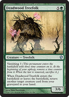 Magic The Gathering - Deadwood Treefolk (141/356) - Commander 2013