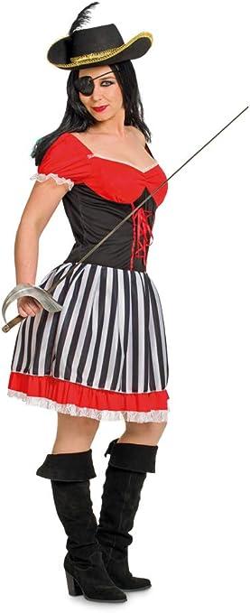 Folat 63323 Pirata Disfraz de los años 60 para Mujer (2 Piezas ...