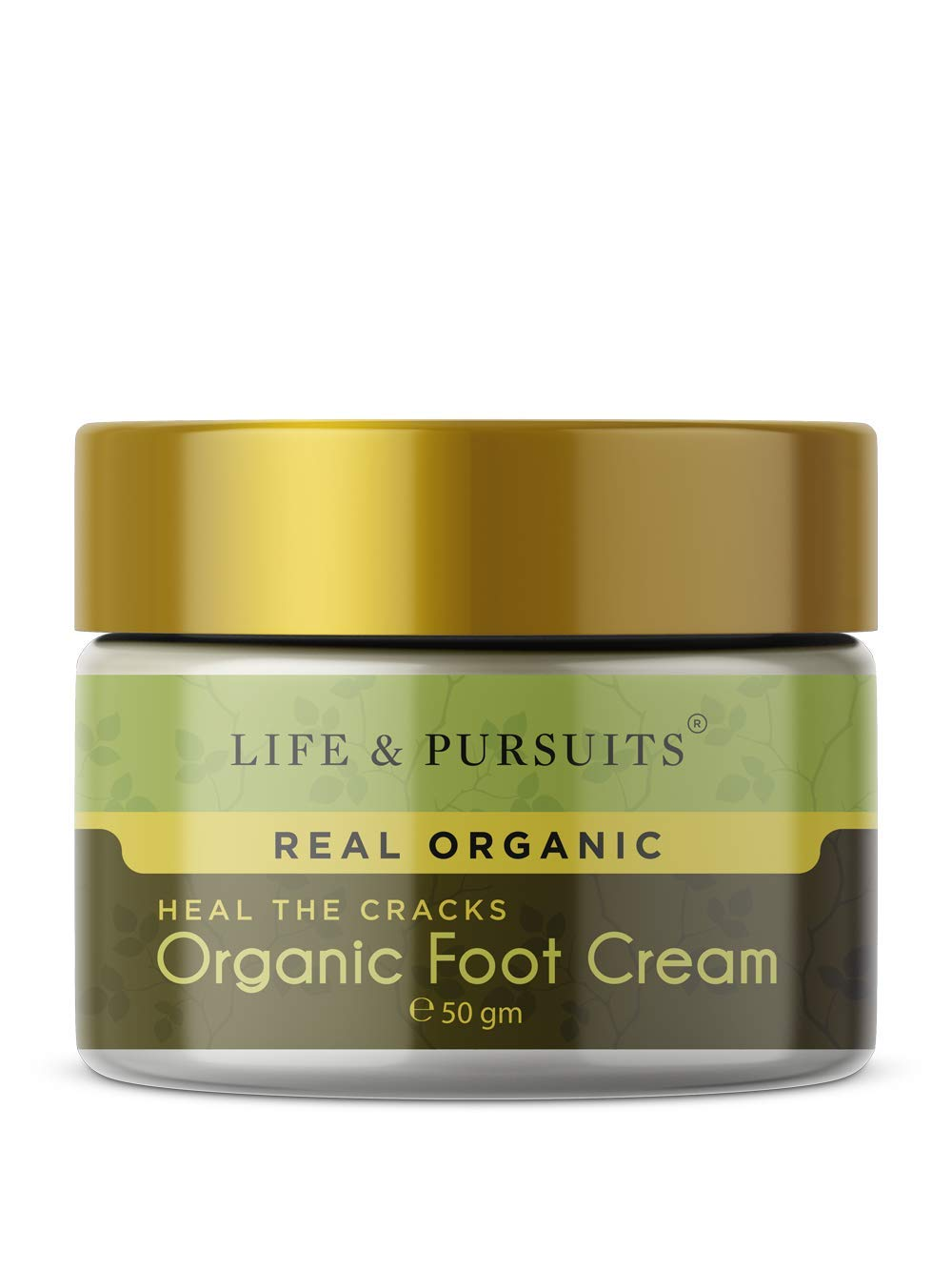 Life & Pursuits Organic Foot Cracks Healing Cream (1.76 oz / 50gm) for Rough, Dry and Cracked Heel | Organic Ayurvedic Foot Repair & Cracked Heels Cream