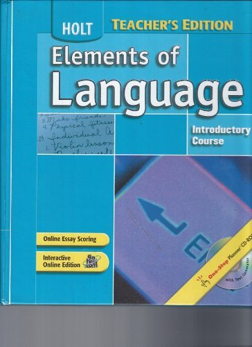 Elements of Language: Introductory Course, Grade 6, Annotated Teacher's Edition