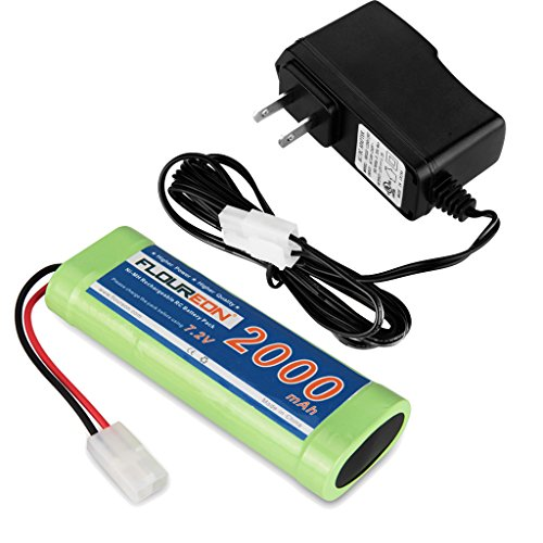 US Plug 12V 1.2A AC Adapter Battery Charger + Rechargeable 2000mAh 7.2V Ni-MH Battery Pack