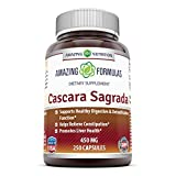 Amazing Nutrition Cacara Sagrada Dietary Supplement – 450mg, 250 Capsules Per Bottle – Gentle Herbal Laxative- Supports Healthy Digestive & Detoxification Function – Supports Overall Well-Being For Sale