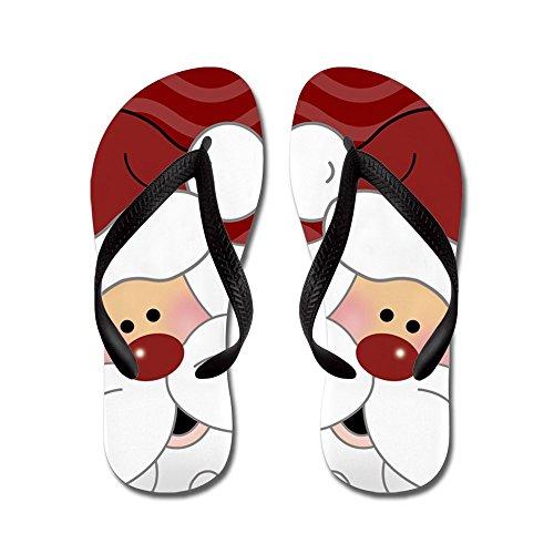 Cafepress Adorable Santa Claus Christmas - Flip Flops, Grappige String Sandalen, Strand Sandalen Zwart