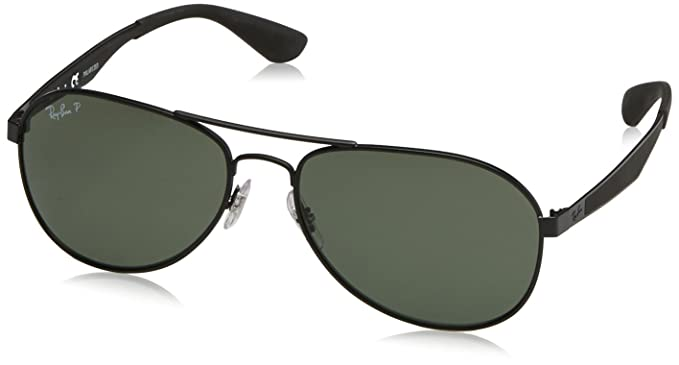 8c258cdb05 Ray-Ban occhiali da sole Aviator in nero verde polarizzata RB3549 006 9A  61  Amazon.it  Abbigliamento