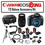 Super Pro Package Featuring Canon EOS Rebel T3 12.2 MP Digital Camera, Sigma 70-300mm f/4-5.6 DG Macro Lens And More