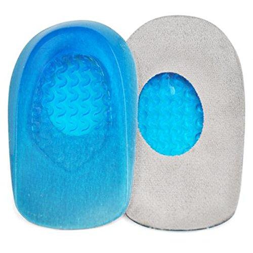 Yahee Fersenkissen Schuheinlage Fersenpolster Einlegesohle Fersenschutz Ein Paar Gel Blau (Women Size)