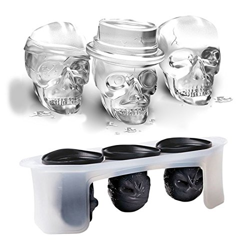 Katoot@ Silicone Skull Ice Molds Cocktails Halloween Party Spooky Fun Bar Tool Bar Ice Cream Maker Model Tools Accessories Drop Shipping -