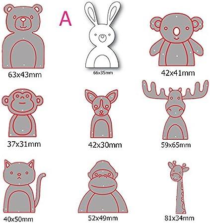 Scrapbooking Metal Die Cut Cartoon DIY Paper Card Embossing Crafting Children