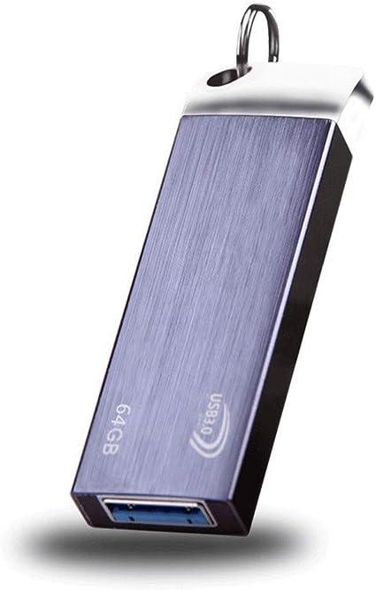 XHMCDZ 128GB USB 3.0 Flash Drive, Pen Drive Pulgar de Alta Velocidad Sin Tapa Pendrive Retráctil Memoria USB Stick Resistente a Golpes Unidad de Salto Tamaño Compacto (Tamaño : 64G): Amazon.es: Electrónica