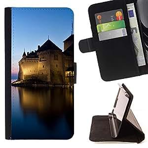 LG Magna / G4C / H525N H522Y H520N H502F H500F (G4 MINI,NOT FOR LG G4)Case , Sunset Beautiful Nature 44- la tarjeta de Crédito Slots PU Funda de cuero Monedero caso cubierta de piel