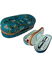 Dual Glasses Case for Two Frames -Built-In Mirror-By OptiPlix