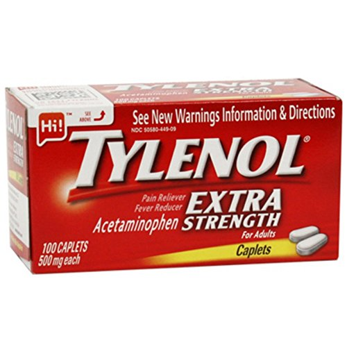J&Johnson 79152700 Pain Relief Tylenol Caplet 100 Per Box 500 Mg 300450449092 Box Of (Caplets Box)