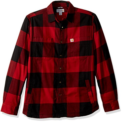 - Carhartt Men's Rugged Flex Hamilton Fleece Lined Shirt, Dark Crimson, Large
