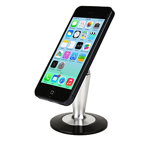 Cooper Pedestal HP ElitePad 900 / 1000 G2, Split x2 13 Desk Tabletop Metal Display Stand (Non-Slip Base; Magnetic Steel Ball Attachment; 360-Degree Rotation; Reusable Panel Glue Pad)