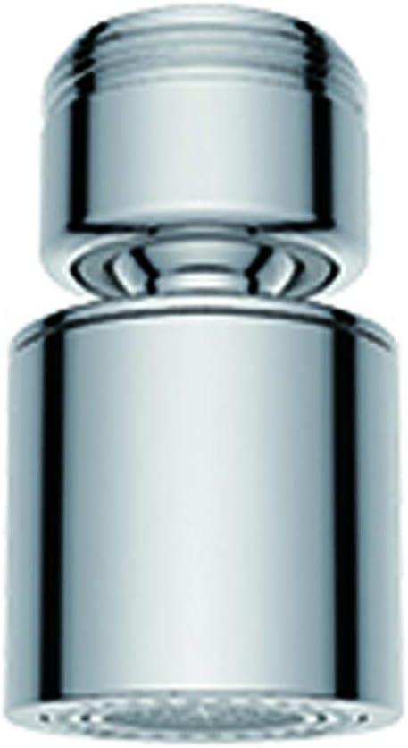 Waternymph Golpecito del grifo del aireador 24 mm macho - Ahorra Agua Aireador Aireador de repuesto de latón para grifo de rosca macho de 24 mm con junta, cromo pulido M24