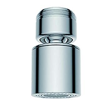 Waternymph Wasserhahn-Luftsprudler, 360-Grad-drehbarer Schwenkkopf, Wassersparender Siebstrahlregler, geeignet für Küche/Bad,