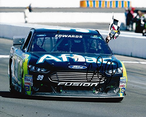 autographed-2014-carl-edwards-99-aflac-racing-sonoma-win-checkered-flag-roush-signed-8x10-nascar-glo