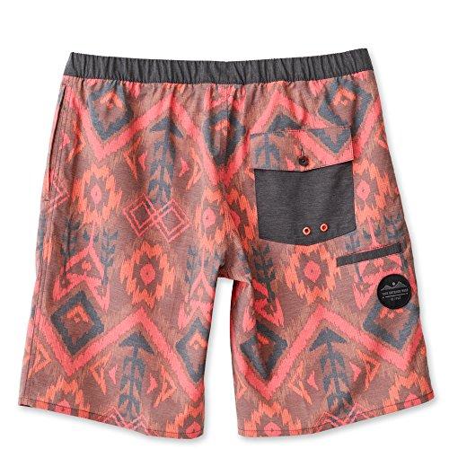 KAVU Men's Sea Legs Shorts, Earth Ikat, Medium