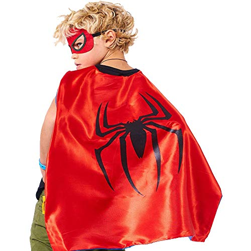 Aodai Halloween Costumes and Dress up for kids - Spiderman boy Costume Cape and Mask ()