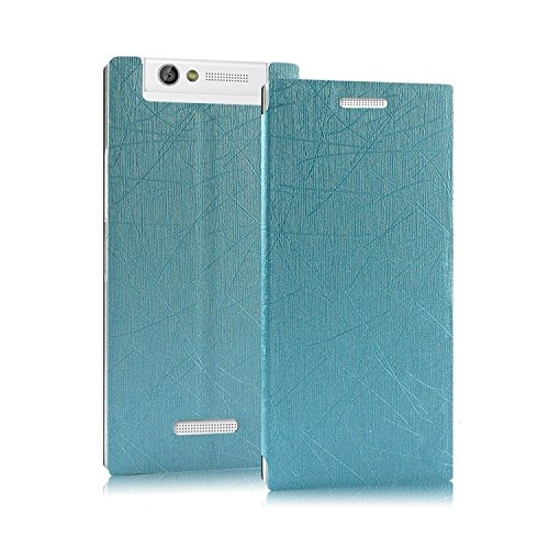 online retailer e14dd 8bbb1 Heartly Premium Luxury PU Leather Flip Stand Back Case Cover For Gionee  Elife E7 Mini - Blue