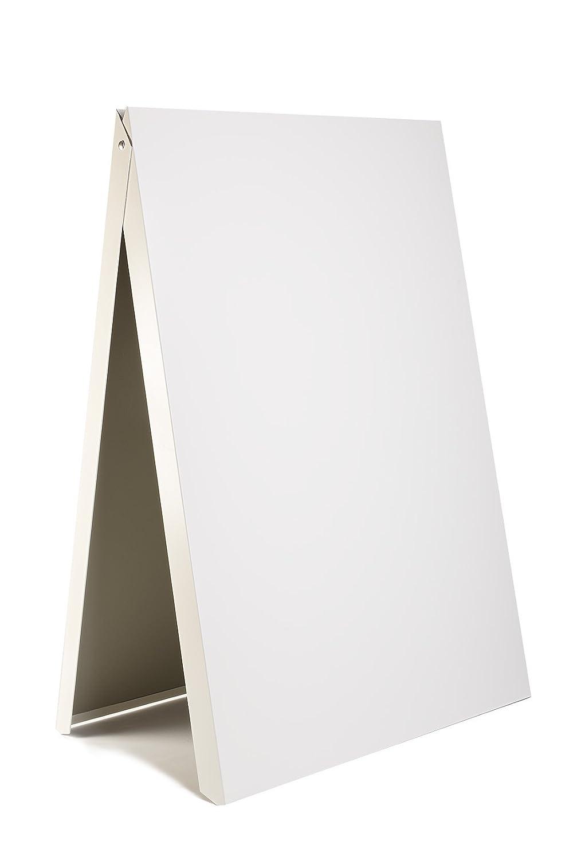 Werbetafel, Gehweg, Kundenstopper, Board, Display, Ständer, RESTAURANT, HOTEL, PUB, Gasthof, Metall WHITE Ständer DWA PVC