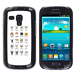 YiPhone /// Prima de resorte delgada de la cubierta del caso de Shell Armor - Cat Breeds Sphynx Scottish Fold Himalayan - Samsung Galaxy S3 MINI NOT REGULAR! I8190 I8190N