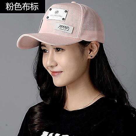 LONFENN Ladies Women Sun Hat Summer Leisure Baseball Cap Student Cap  Outdoor Visor Letter Hats Pink 979a9a4cd11a