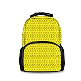 INWANZI Stylish Funny Adult Kids Teens School Bags Backpack, Outdoor Travel Hiking Cycling Camping Daypack, Durable Notebook Computer Bag (Cute Funny Rubber Duck)