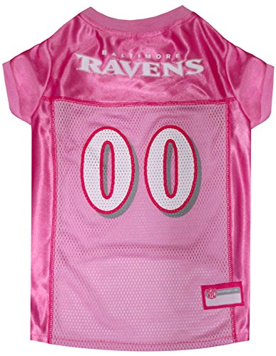 Pets First NFL Baltimore Ravens Pet Jersey, Pink, Small by Pets First