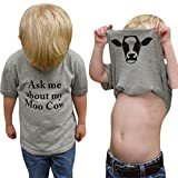 SMALLE Clearance Cute Baby Boys and Girls Letter Soft Tops T-Shirt Blouse Clothes
