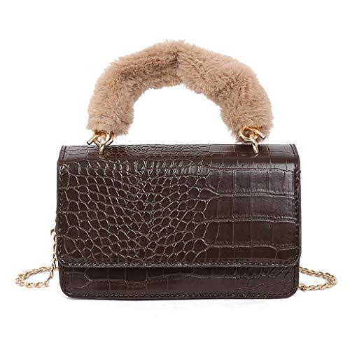 Hot Selling!!!♛HYIRI Femme Harajuku Women's Hand Bag Wild Small Fashion Stone Crossbody Chain Bag Shoulder Bag ()
