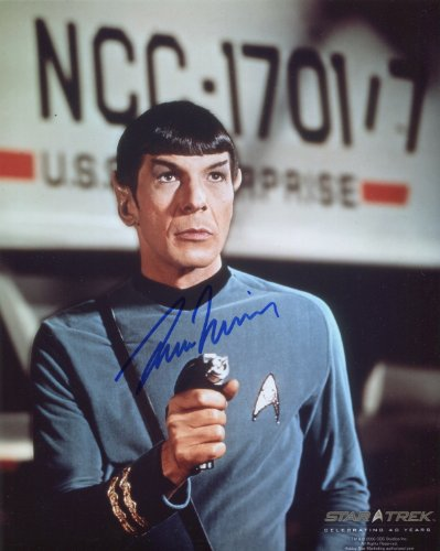 Autograph Original (Leonard Nimoy Signed / Autographed Star Trek 8x10 glossy photo portraying Spock. Includes FANEXPO Certificate of Authenticity and Proof. Entertainment Autograph Original.)