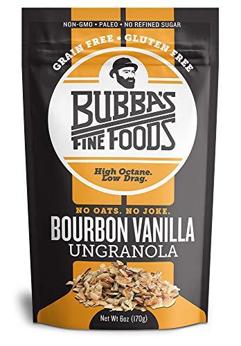 Paleo Grain-Free Granola | Bubbas Fine Foods Bourbon Vanilla | Gluten-Free Breakfast Cereal | 6 Ounce | Pack of 1
