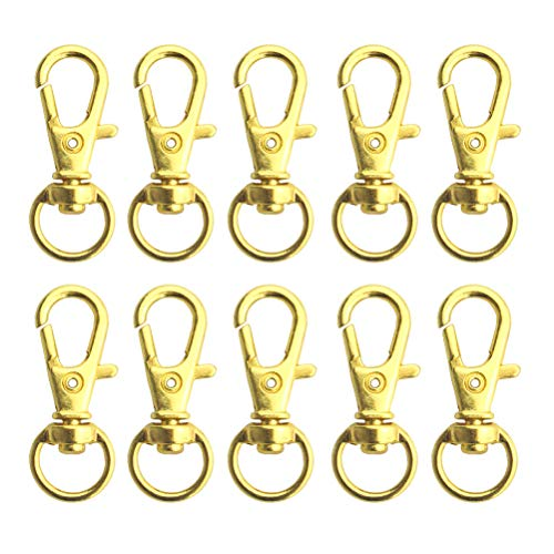 Swivel Clasps Lanyard Snap Hook,cnomg Metal Swivel Lanyard Snap Hook Lobster Claw Clasp (Golden, 50 pcs)