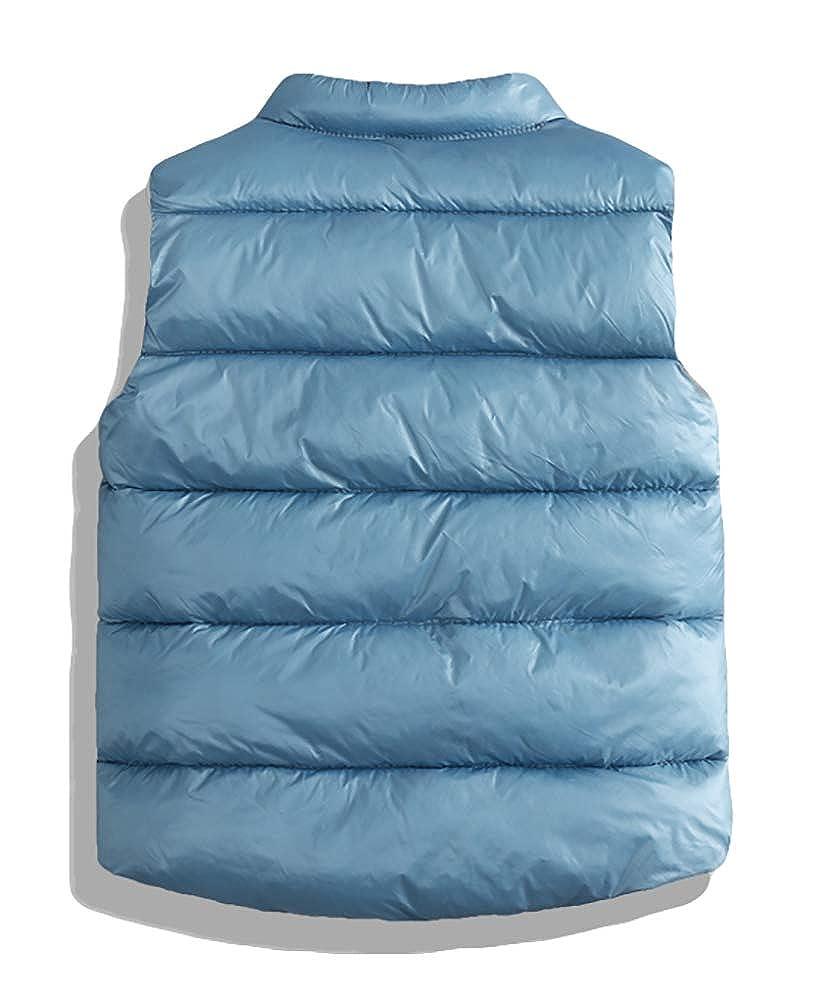 BISHE Girls /& Boys Lightweight Down Vest Winter Puffer Waistcoat for Baby Kids