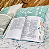 Bible Tabs for Women and Girls – Bible Index Tabs Laminated with Matte Finish, Colorful Bible Book Tabs for Journaling, Peel & Stick Labels, Set of 96, Includes Blank Tabs