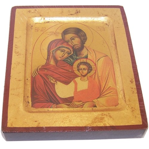- Holy Family Icon with sheets of Gold (Lithography) (5 Inches)