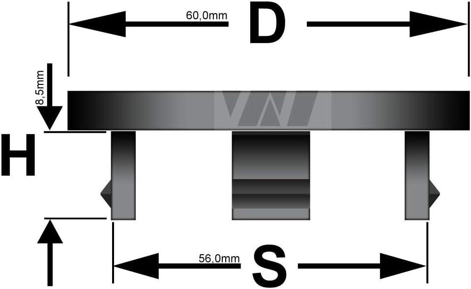Wamster 4 X Außen 60 0mm Innen 56 0mm Nabenkappen Felgendeckel Radnabendeckel Auto