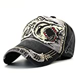 Magosca New Washed Baseball Cap Fitted Cap Snapback Hat for Men Bone 100% Cotton Breathable Women Gorras Casual Casquette Embroidery Shark Outdoor Leisure Sports Hat (Color : Gray)