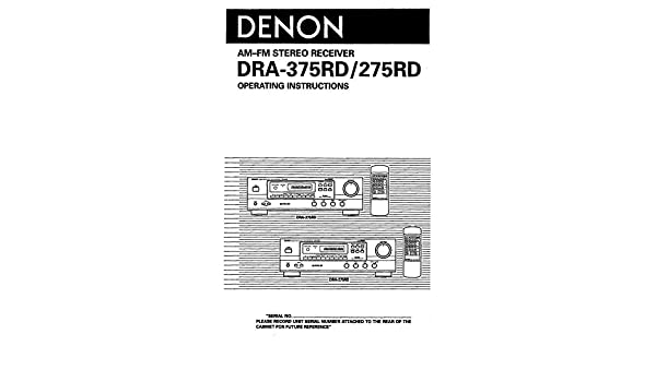Denon dra-375rd manuals.
